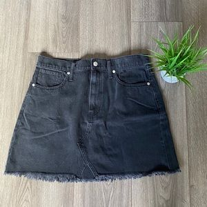 Madewell Rigid Denim A-Line Mini Skirt Size 30
